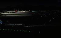 Nighttime view of an airport