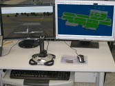 Combined mode with 3D Tail view and radar screen, Tower simulation